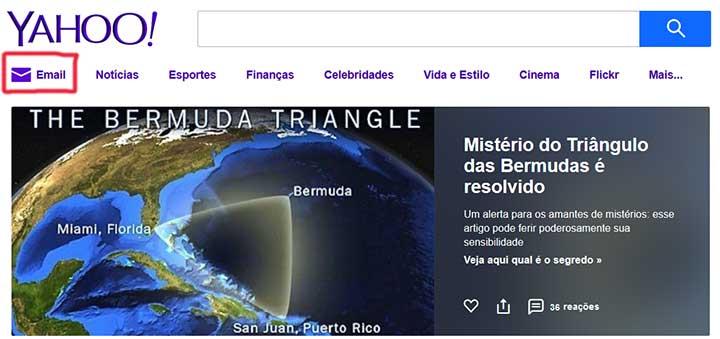 Criar Email Yahoo